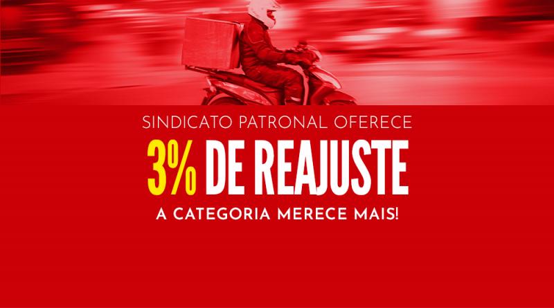 Sindicato patronal das empresas express oferece reajuste de 3%. A categoria merece mais!